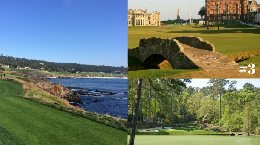 My TOP 3 Bucket List MUST PLAY Golf Courses
